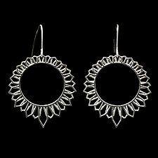 Sun House Earrings by Diana Eldreth (Silver Earrings)