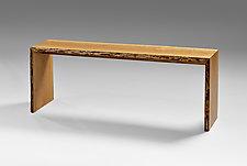 Cherry Hallway Bench by Jesse Shaw (Wood Bench)