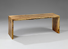 Spalted Maple Hallway Bench by Jesse Shaw (Wood Bench)