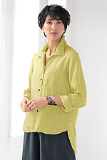 Linen Stinson Shirt by Lisa Bayne  (Woven Shirt)