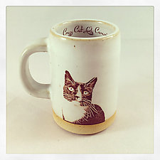 Tuxedo Cat Espresso Cup by Chris Hudson and Shelly  Hail (Ceramic Mug)