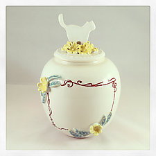 English Porcelain Customizable Cat Urn by Chris Hudson and Shelly  Hail (Ceramic Jar)