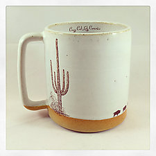 Wandering Buffalo Mug by Chris Hudson and Shelly  Hail (Ceramic Mug)