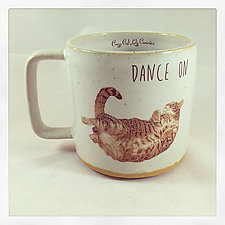 Dance On Tabby Cat Mug by Chris Hudson and Shelly  Hail (Ceramic Mug)