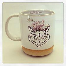 Trick or Treat Sugar Skull Cat Mug by Chris Hudson and Shelly  Hail (Ceramic Mug)