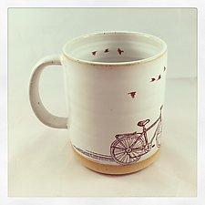 Ride On Cycling Mug by Chris Hudson and Shelly  Hail (Ceramic Mug)