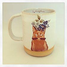 Sir Shalom's Fabulous Floral Mug by Chris Hudson and Shelly  Hail (Ceramic Mug)