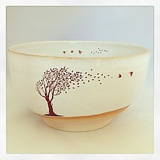 Take Flight Medium Bowl by Chris Hudson and Shelly  Hail (Ceramic Bowl)