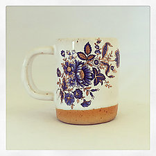 Blue and Gold Bohemian Espresso Cup by Chris Hudson and Shelly  Hail (Ceramic Mug)