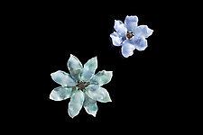 Blooming Flora - Pale Multi by Demetra Theofanous (Art Glass Wall Sculpture)