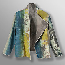 Hand Dyed Linen Reversible Jacket 2 by Uosis Juodvalkis  and Jacquie Rice  (Linen Jacket)