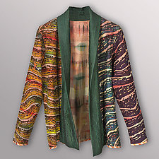 Taffeta Collar Wool Jacket by Uosis Juodvalkis  and Jacquie Rice  (Wool Jacket)
