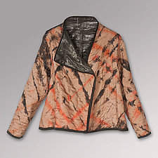 Glazed Black Linen and Silk Jacket by Uosis Juodvalkis  and Jacquie Rice  (Linen Jacket)