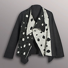 Dotted Wool Felted Jacket by Uosis Juodvalkis  and Jacquie Rice  (Wool Jacket)