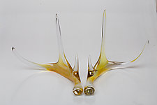 Golden Glass Antlers by Grant Garmezy (Art Glass Sculpture)