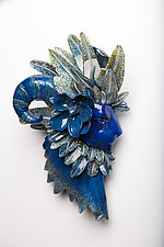 The Humble King by Grant Garmezy (Art Glass Wall Sculpture)