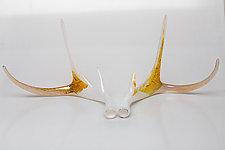 Sunshine Glass Antler Set by Grant Garmezy (Art Glass Sculpture)