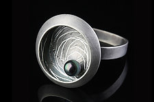 Single Nest Ring by Linda Azar (Silver & Pearl Ring)