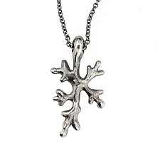 Fractal Lichen Pendant by Renee Ford (Silver Necklace)