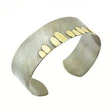 Lichen Cuff Bracelet by Renee Ford (Gold & Silver Bracelet)