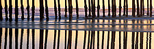 Pismo Pier Reflections by Terry Thompson (Color Photograph)