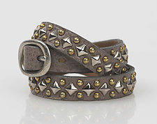 Celso Triple Wrap Cuff by Calleen Cordero  (Leather & Brass Bracelet)
