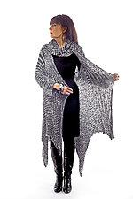 Ombre Mesh Hankerchief Point Sweater Coat & Mobius Infinity Scarf by Robin Bergman  (Sweater Coat)