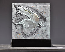 On a Wing and a Prayer by Susan Bloch (Art Glass Sculpture)