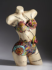 Bathing Beauty by Gail Markiewicz (Ceramic Sculpture)