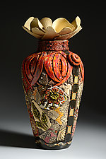 Extra Large Floor Vase with Narrow Bottom by Gail Markiewicz (Ceramic Vase)