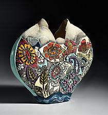 Heart Vase by Gail Markiewicz (Ceramic Vase)