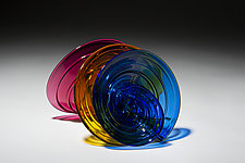 Primary Rounds by April Wagner (Art Glass Sculpture)