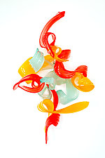Flutterby 5 by April Wagner (Art Glass Wall Sculpture)