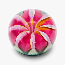 Pink Ruby Fruit Paperweight by April Wagner (Art Glass Paperweight)