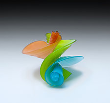 Opal Papillon by April Wagner (Art Glass Sculpture)