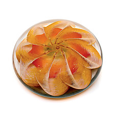 Tiger Lily by April Wagner (Art Glass Paperweight)