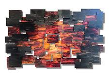 Dusk by Karo Martirosyan (Art Glass Wall Sculpture)