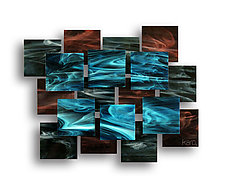 Electric Accent Piece by Karo Martirosyan (Art Glass Wall Sculpture)