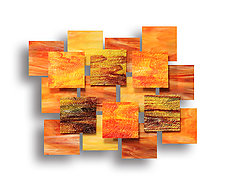 Autumn Accent Piece by Karo Martirosyan (Art Glass Wall Sculpture)