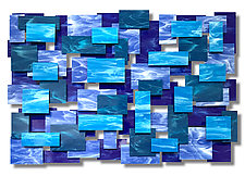 Cascade Glass and Metal Wall Sculpture by Karo Martirosyan (Art Glass Wall Sculpture)