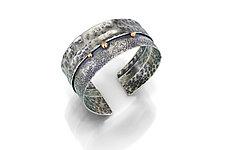 Ridgeline Cuff by Susie Aoki (Gold & Silver Bracelet)