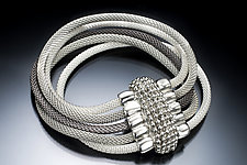 Five-Strand Mesh Bracelet with Magnetic Clasp by Erica Zap (Metal Bracelet)