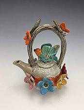 Waiting for Love by Lilia Venier (Ceramic Teapot)