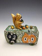 In My Backyard by Lilia Venier (Ceramic Box)