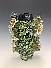 Taking a Break (Cactus Series) by Lilia Venier (Ceramic Vase)