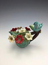 Taking a Break II (Cactus Series) by Lilia Venier (Ceramic Teapot)