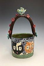 Neighborhood Cats III by Lilia Venier (Ceramic Vase)