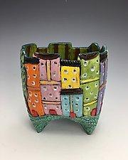 Tuscany IX by Lilia Venier (Ceramic Vase)