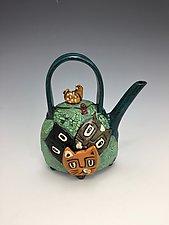 Neighbor's Cats by Lilia Venier (Ceramic Teapot)