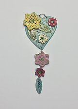 Heart Tile XV by Lilia Venier (Ceramic Sculpture)